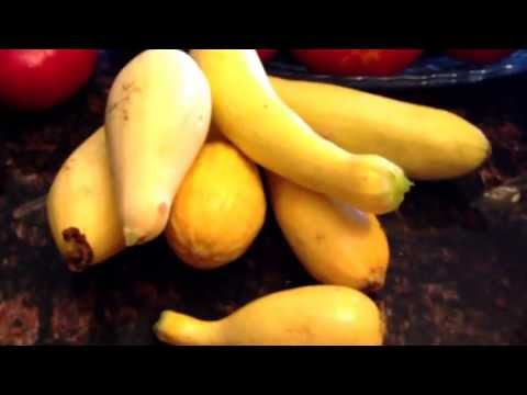 How to freeze yellow squash.