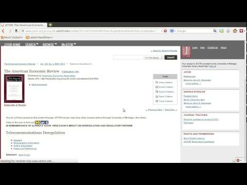 How to find resources: using JSTOR and NBER working papers