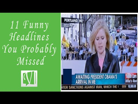 11 of the Funniest and Silliest News Headline You Probably Missed