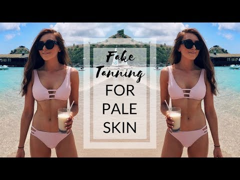 FAKE TANNING TIPS FOR PALE SKIN + MY TANNING ROUTINE