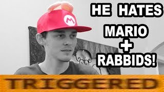 SOMEONE GAVE LOGAN A MARIO+RABBIDS HAT!!