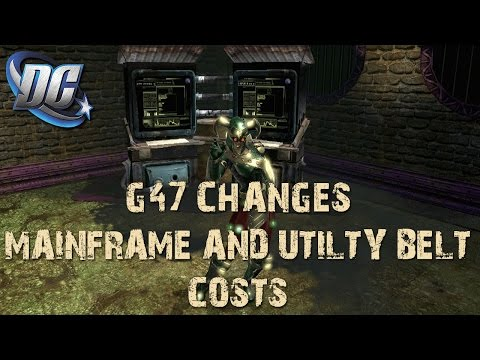 DCUO - Understanding GU47: Mainframe and Utility Belt Costs