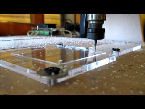 Cutting acrylic home made cnc x4 faster