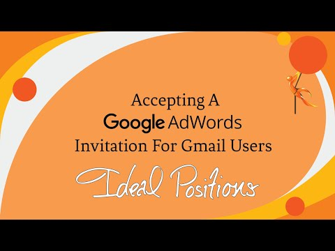 Accepting a Google AdWords Invitation for Gmail Users