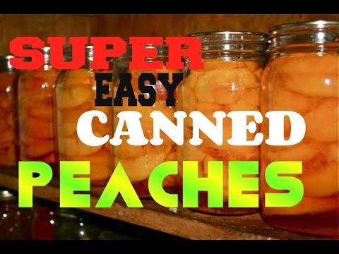 Super Easy Way To Can Peaches