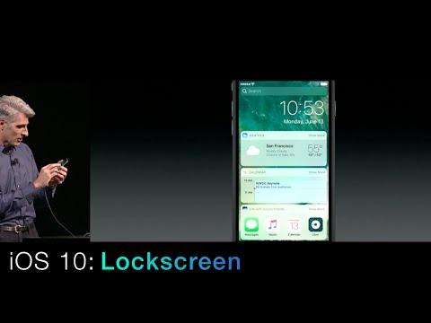 iOS 10: New Lockscreen & Widgets