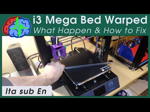 Anycubic i3mega Ultrabase Bed Warped - What happen and how to fix - Sub EN