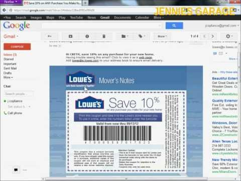 How To Get A Free Lowes 10% Off Coupon - Email Delivery