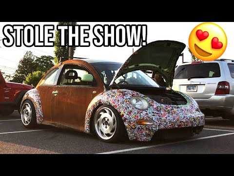 SLAMMED RUSTED BEETLES FIRST CAR SHOW!