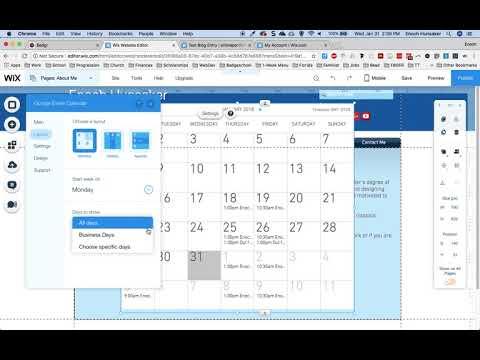 Embedding a Google Calendar onto a Wix Site