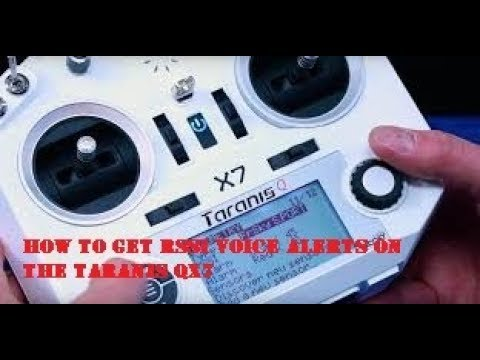 How to get RSSI voice alerts on the Taranis QX7 - PakVim net