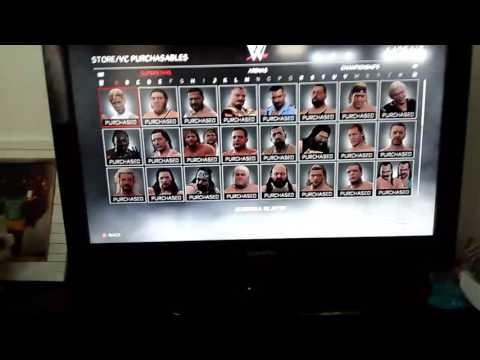 I unlocked all the characters on wwe2k17!