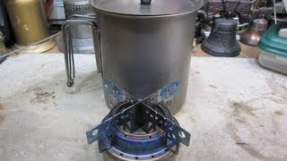 Evernew Titanium Alcohol Stove Vargo Titanium 750 Ml Mug Boil Test 1