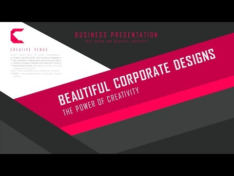 How To Create Material Design Theme Business Title Slide in Microsoft Office 365 PowerPoint PPT