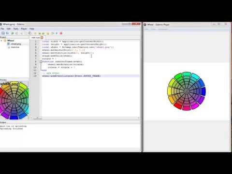 [Gideros] Make Spinning wheel with Gideros