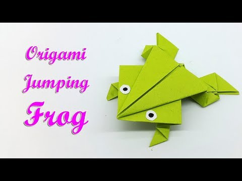 Origami Frog that jumps easy - How to make a Paper Frog step by step paper craft tutorial