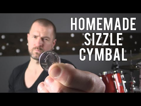 DRUM HACK - HOMEMADE SIZZLE CYMBAL