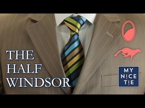 How to Tie a Tie: THE HALF WINDSOR (quick+mirrored=review) | How to Tie a Half Windsor Knot (easy)