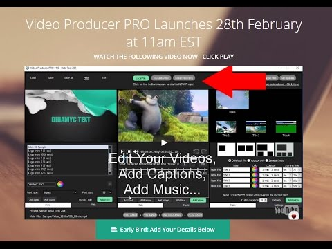 Video Producer Pro Tutorial - How to Make Videos with Pictures and Music