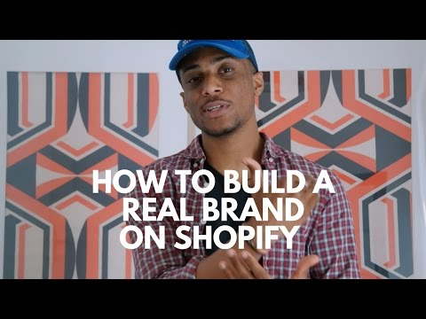 How to Build a Brand with Your Ecommerce Store (Shopify)