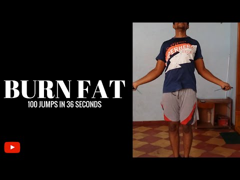 Jump rope Challenge: 100 jumps in 36 sec (Brutal workout)