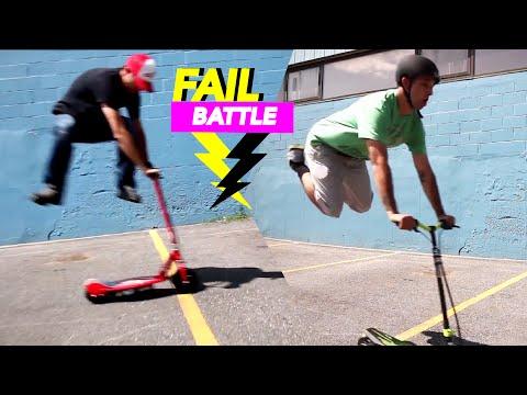 FAIL BATTLE - Electric Scooter Trick Challenge