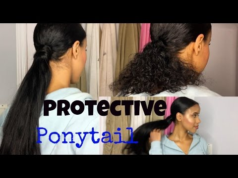 HOW TO DO A LONG PONYTAIL USING CLIP-IN EXTENSIONS (PROTECTIVE HAIRSTYLE)
