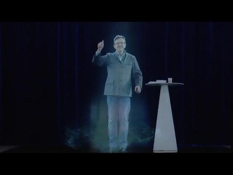 MÉLENCHON : Double meeting à Lyon et Paris #JLMHologramme