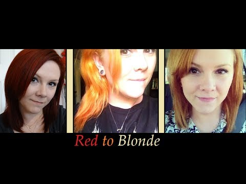 Red To Blonde- Using Ash Blonde to Tone out the Orange!