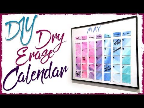 Dry Erase Watercolor Calendar | DIY | Diving Head First