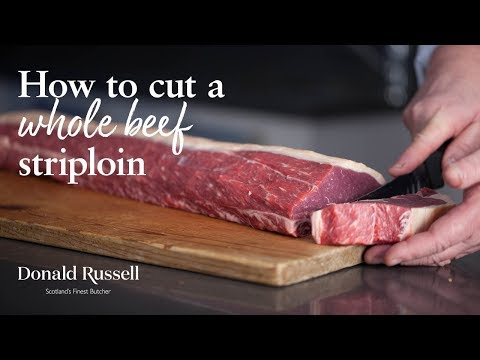 How to cut a Whole Beef Striploin