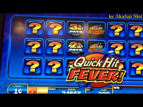 QUICK HIT FREE GAMES  FEVER★How much can I get, If I spend $ 100 with Slot Machine !  Akafujislot