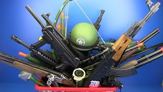 Box of Toys !!! Military & Police Guns Toys ! VIDEO FOR KIDS - What