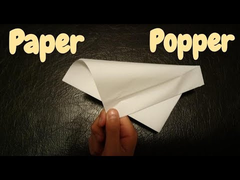 How to Make a Paper Popper  flapper   Banger   Huge loud Origami Step by Step Tutorial