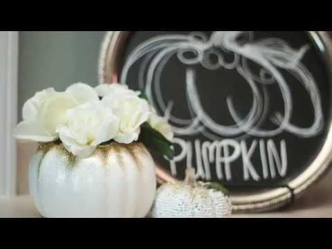 DIY Pumpkin Floral Arrangements! Dollar Tree