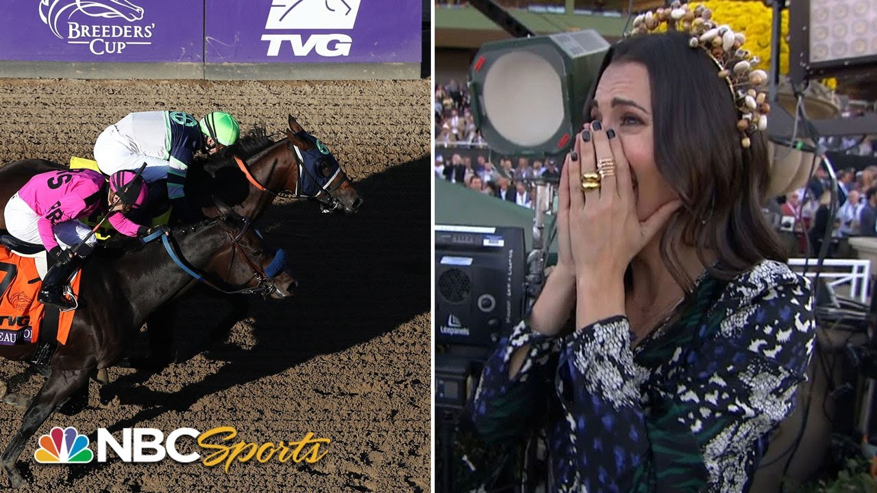 Reporter interviews her dad after his 45-1 longshot wins $2 million Breeders' Cup race   NBC Sports