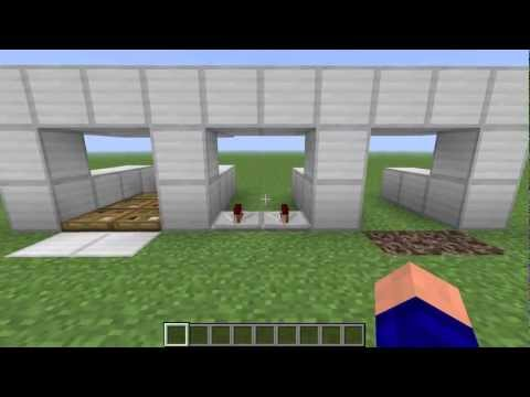 Minecraft 1.2.5 - How to make one way doors!