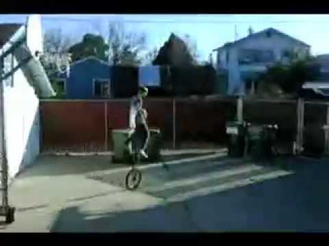 SLAM DUNK ON GIANT UNICYCLE