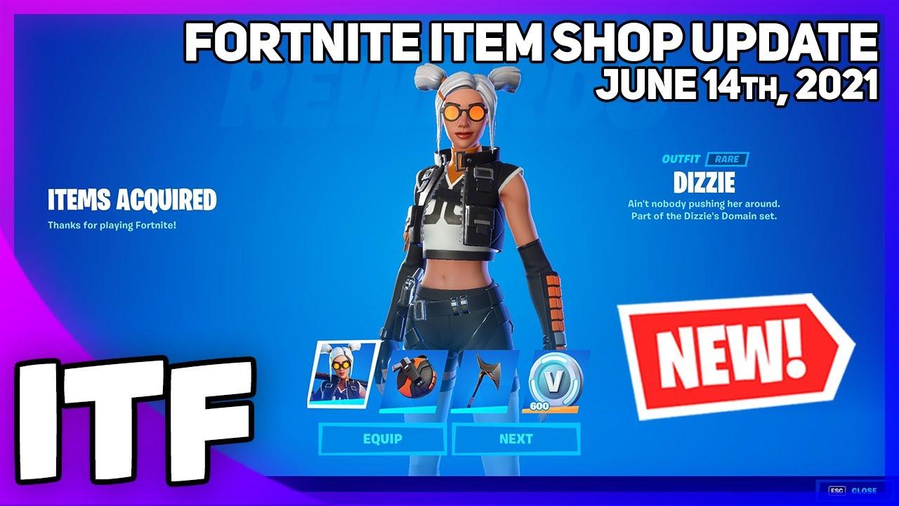 Fortnite Item Shop *NEW* DIZZIE STARTER PACK + RAREST WRAP RETURNS! [June 14th, 2021] (Fortnite BR)