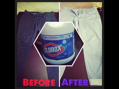 DIY| How to Lighten your Jeans w/Bleach