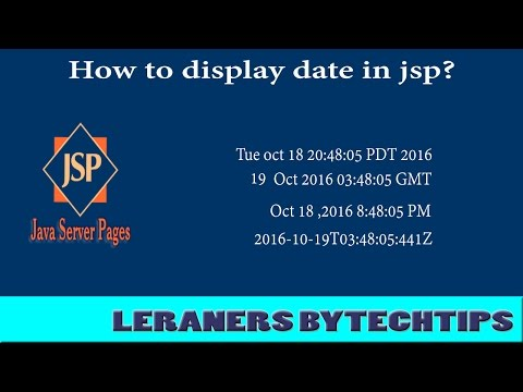 How to display date in jsp?By Learners Bytechtips