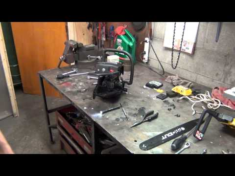 Mucculloch 3516 chain saw assembly