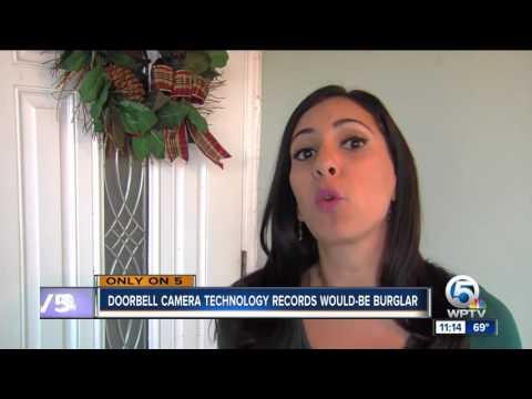 Doorbell camera records would-be burglar before break-in