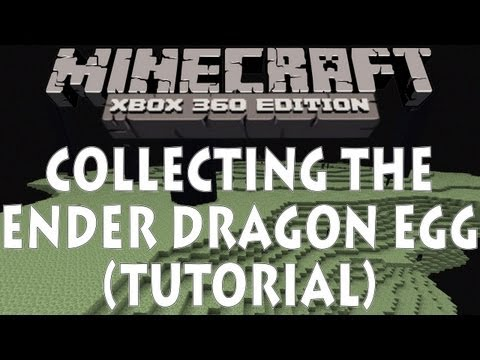 Minecraft Xbox 360 - HOW TO COLLECT THE ENDER DRAGON EGG (TU9)
