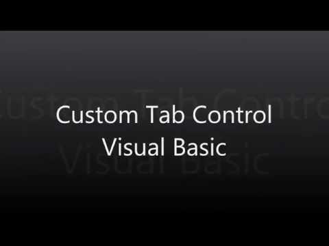 Custom Tab Control Switching tabs - Visual Basic 2010 Tutorial