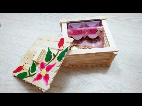 Ice Cream Stick Box for Jewelry Box | Gift Box | Desk Organizer | DIY Popsicle Stick Crafts