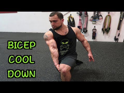 5 Minute Bicep Static Stretching Routine | Cool Down