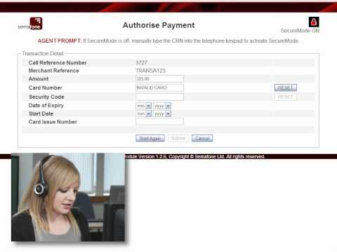 Handling an invalid credit card number