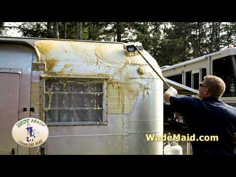 Cleaning a Vintage Travel Trailer by Hand