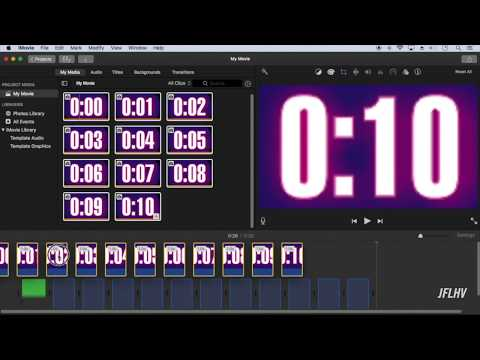 iMovie: Creating a custom timer